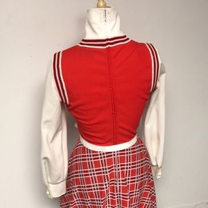 Authentic Original Vintage Style Dresses - Vintage 60's Plaid Secretary/schoolgirl  Day Dress